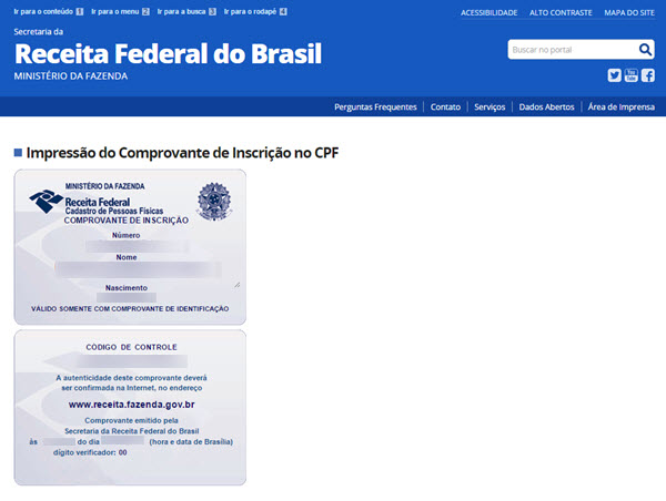 Como tirar segunda via do CPF pela internet