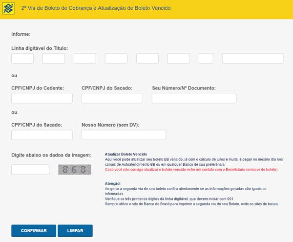 Como tirar segunda via do Boleto do Banco do Brasil