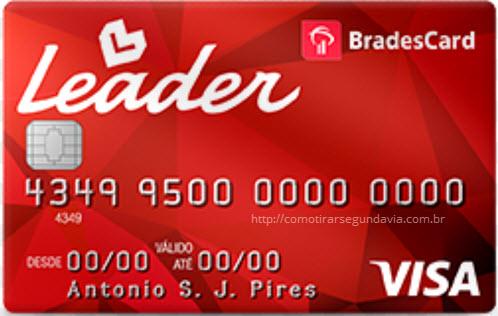 Segunda via da fatura cartão Leader