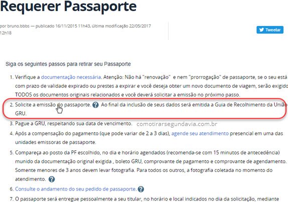 emissão do passaporte Polícia Federal