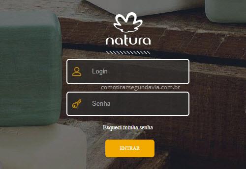 Segunda via boleto Natura