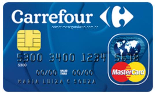 Segunda via da fatura do cartão Carrefour