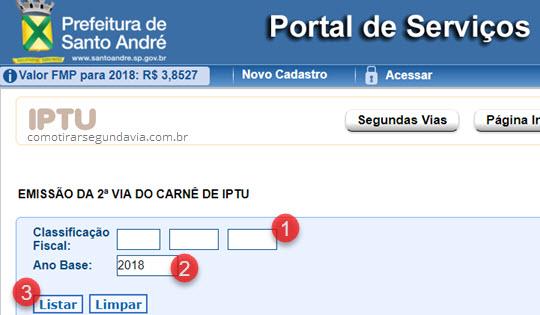 Segunda via IPTU Santo André