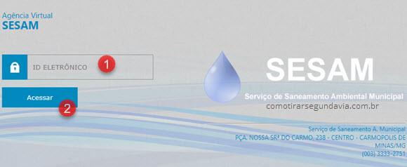 Segunda via de água SESAM