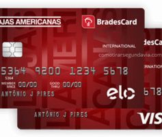 Segunda via cartão de crédito Lojas Americanas 2ª via