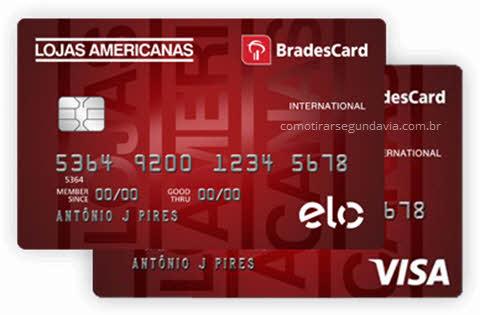 Segunda via cartão de crédito Lojas Americanas