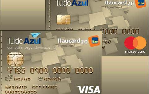 Segunda via do cartão Tudo Azul Itaucard