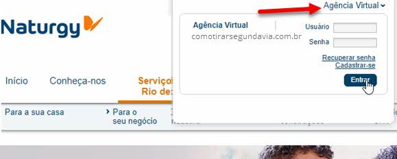 Login agência virtual Naturgy