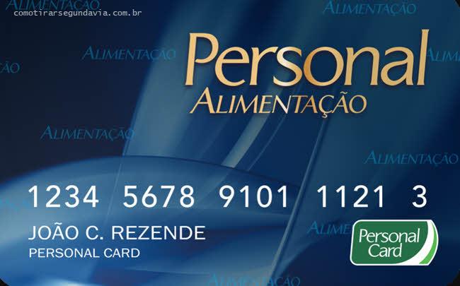 Pode solicitar segunda via Personal Card