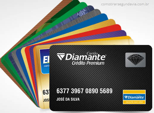 Pode tirar segunda via Cartão Diamante pela internet?